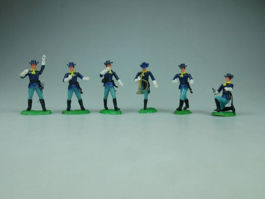 Elastolin Hausser Steckfiguren 6 Nordstaaten Offiziere Soldaten 114063