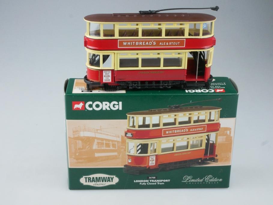 Corgi Classic Tram 36708 LONDON TRANSPORT Fully Closed Tram Box - 113709