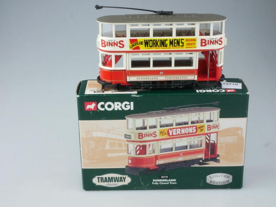 Corgi Classic Tram 36710 SUNDERLAND Fully Closed Tram in Box - 113710