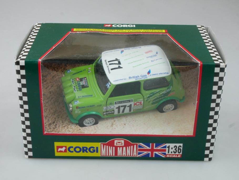 Corgi 1/36 Mini Mania 04433 '98 RAC Rally The Green Team Box - 113725