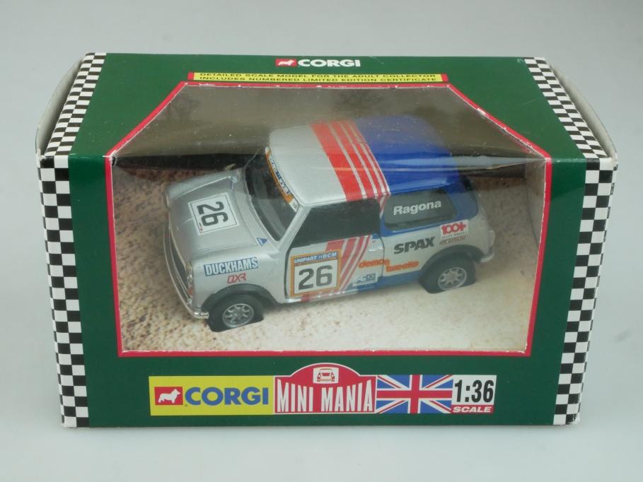 Corgi 1/36 Mini Mania 04439 Rover-Unipart Mini 7 Challenge Box 113728