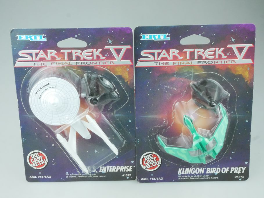 2x Ertl Star Trek V final Frontier USS Enterprise + Klingon Bird of Prex 113757