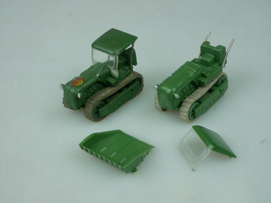 Espewe H0 KS 30 KT50 Kettenschlepper Überkopflader Urtrak Bastler Lot DDR 113769