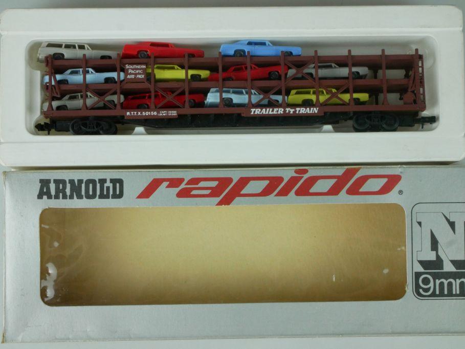 Arnold rapido Spur N 0409 T US Autotransportwagen m. 3 Etagen  + Box 113890