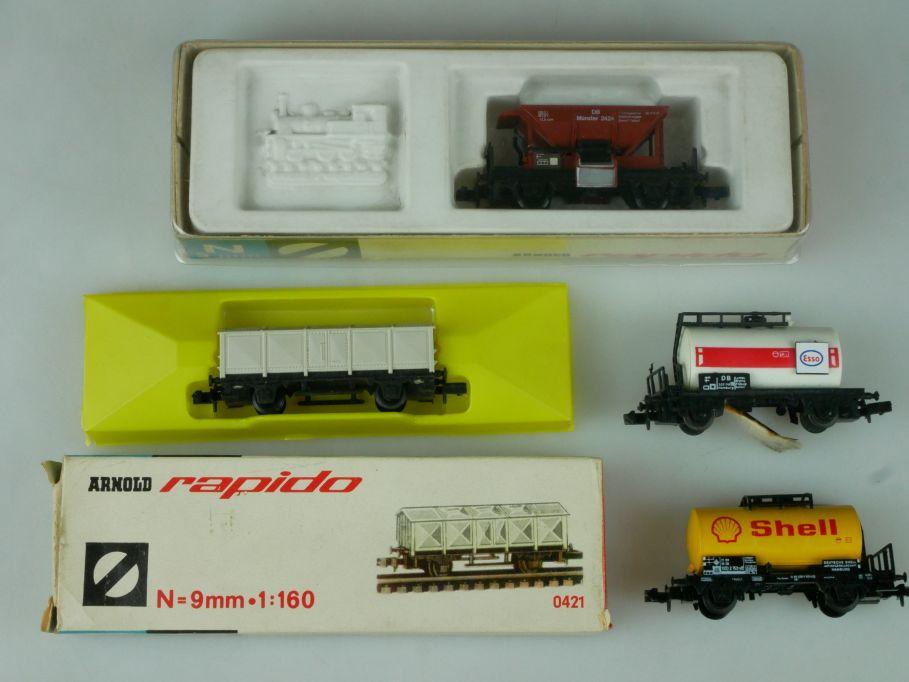Spur N Lot Arnold 0421 0468 Minitrix 13541 Herkat Schienenreinigungswagen 113899