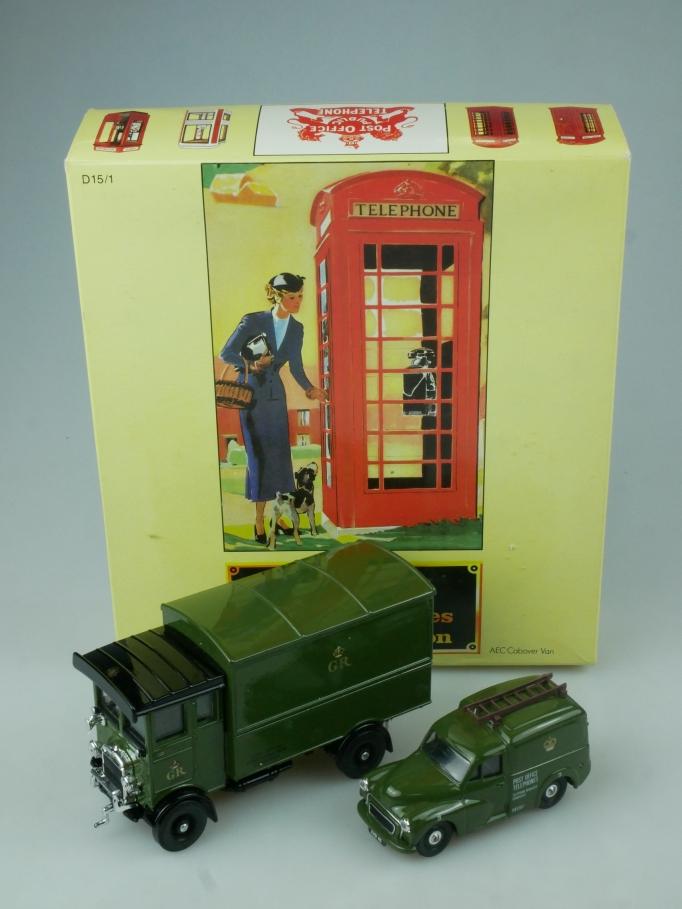 Corgi GPO Telephones Morris Minor Van AEC Cabover Van in Box - 113756