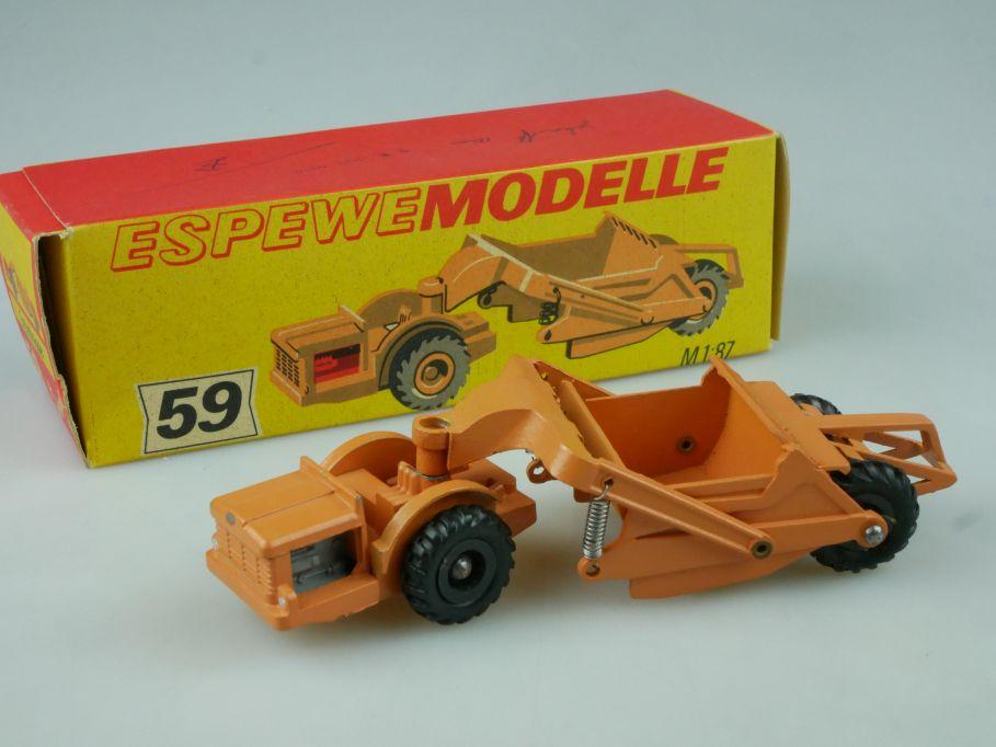 Espewe 1059 1/87 H0 Erdschrapper earth scraper 59 Zinkguß DDR Box 113794