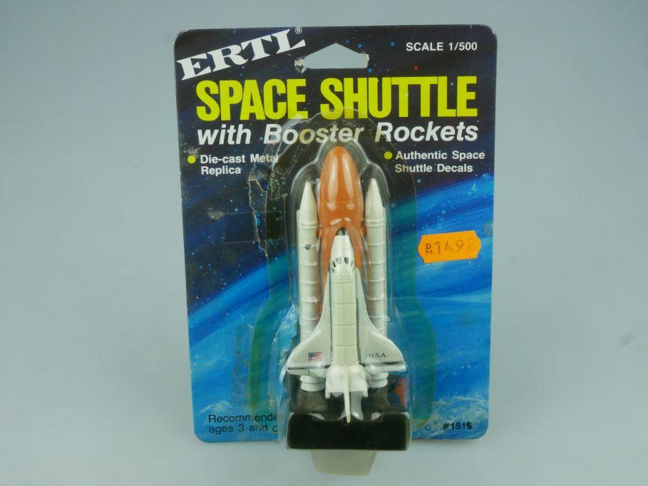 Ertl diecast 1/500 NASA Space Shuttle w Booster Rockets 1515 blister card 113811