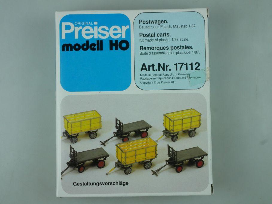 Preiser 1/87 H0 Postwagen Bausatz 17112 Kit Box 113817