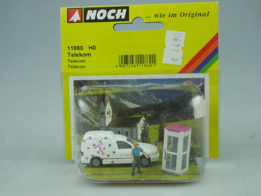 NOCH H0 1/87 Telekom VW Caddy Telefonzelle 11860 Blister 113819
