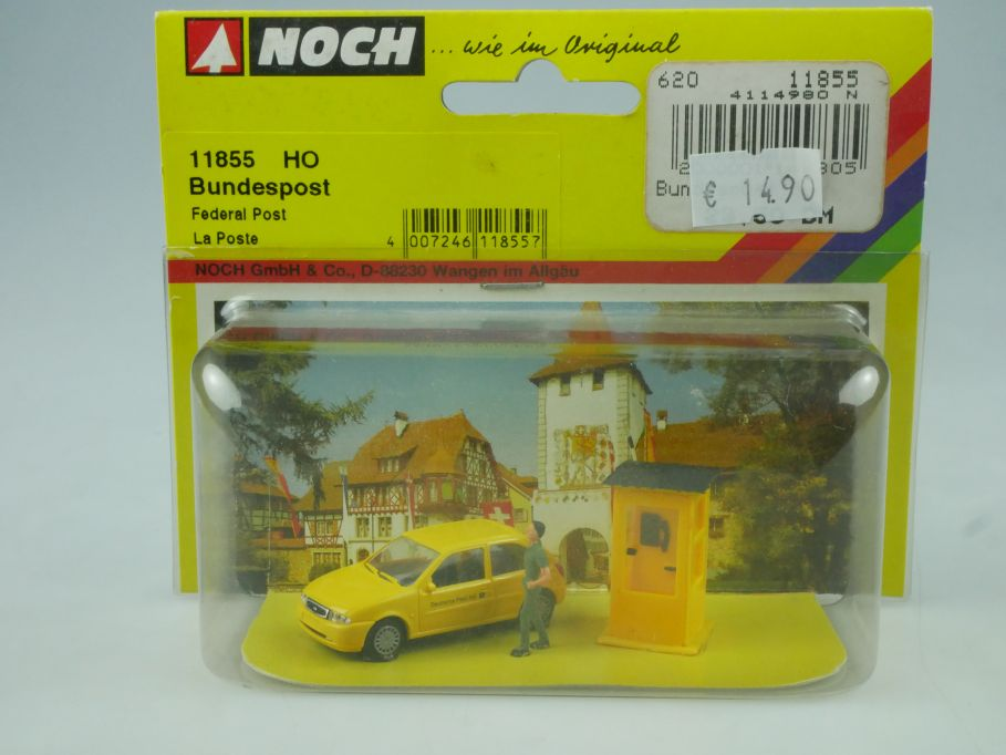 NOCH H0 1/87 Bundespost Ford Fiesta Telefonzelle 11855 Blister 113820