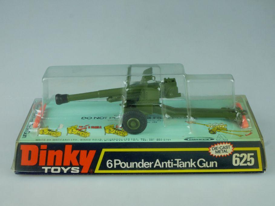 Dinky Toys 625 6 pounder Anti Tank gun Kanone diecast metal Blisterbox 113909
