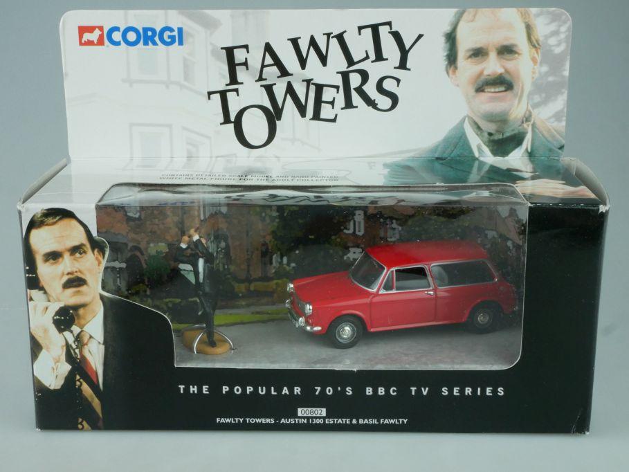 Corgi 1/43 Austin 1300 Estate & Basil Fawlty Towers TV car 00802 + Box 113950
