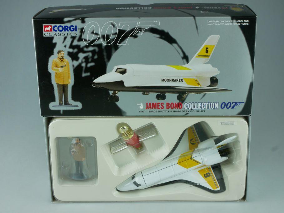 Corgi Space Shuttle MOONRAKER Drax Figure James Bond Coll. 007 65401 Box 113954