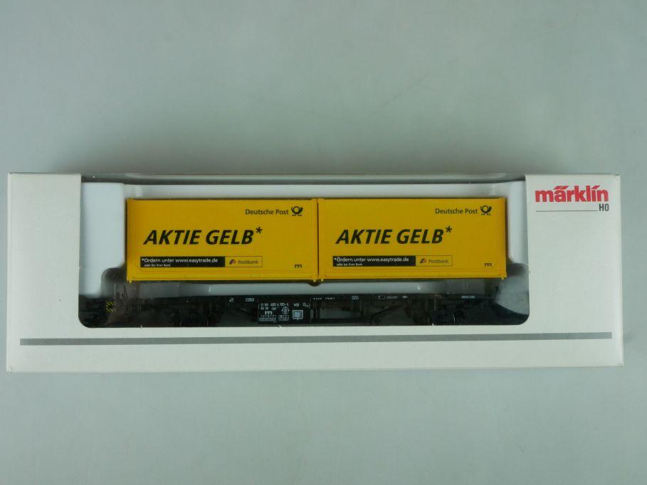 Märklin H0 PMS 63-02 Container Wagen Aktie Gelb 94084 + Box 114041