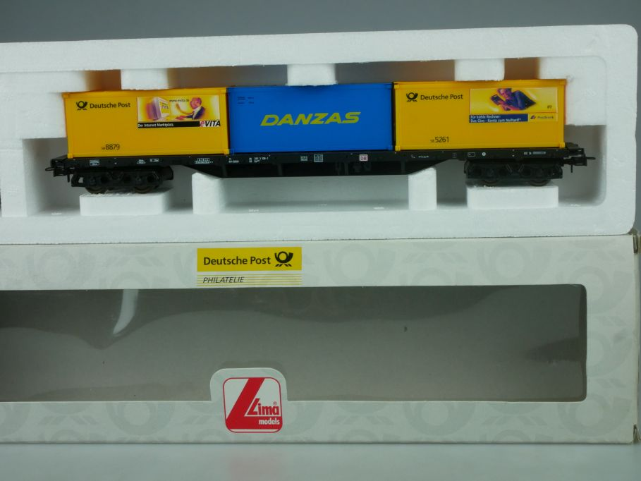 LIMA H0 021421 Containertragwagen 3 Container Danzas Deutsche Post Box 114051