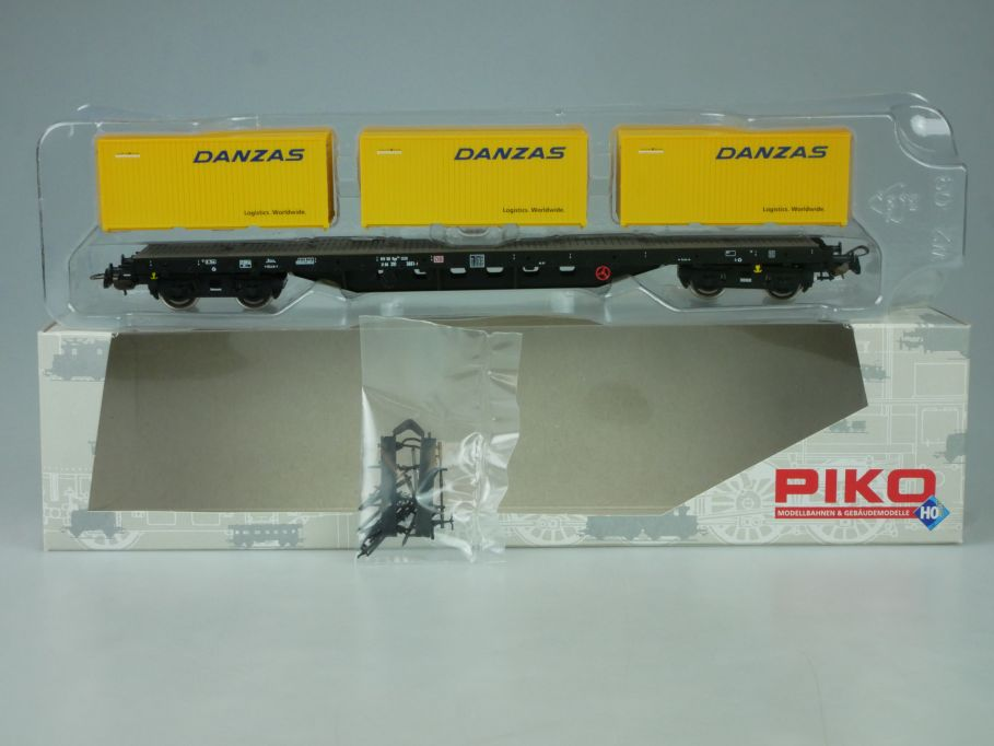 Piko H0 Danzas Containerwagen Rgs3910 DB Ep. V 218497 + Box 114018