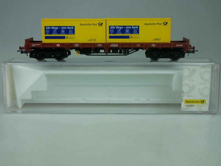 Electrotren H0 Containerwagen Alle Wege eine Bank Dt. Post 006745 Box 114032