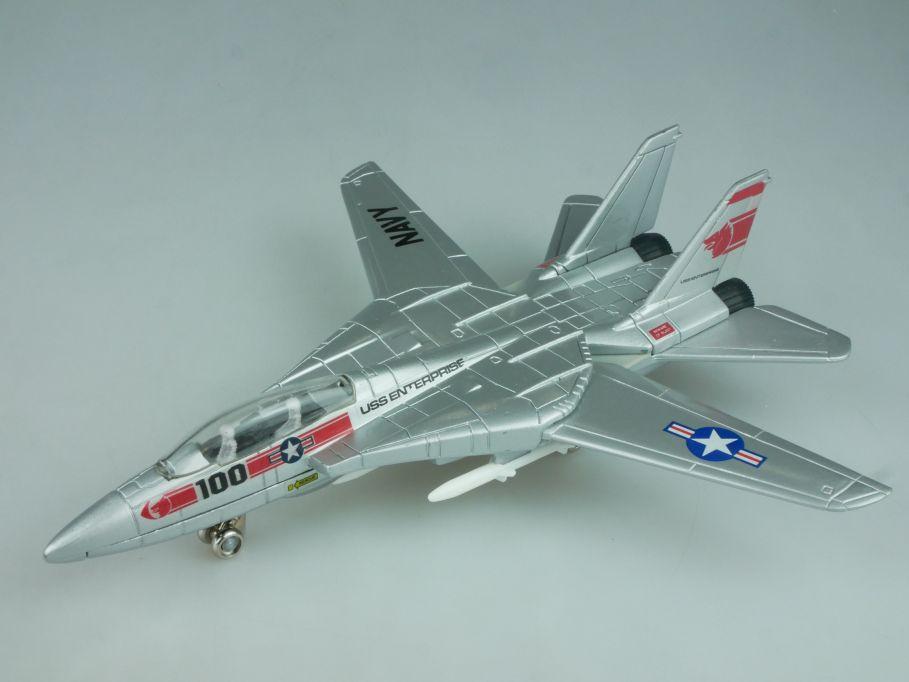 1/100 US Navy - Grumman F14 Tomcat diecast jet 19cm USS Enterprise - Ertl 113990