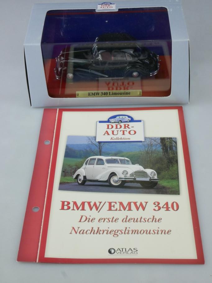 Atlas DDR-Auto 1/43 EMW 340 Limousine + Datenblatt in Box - 113955