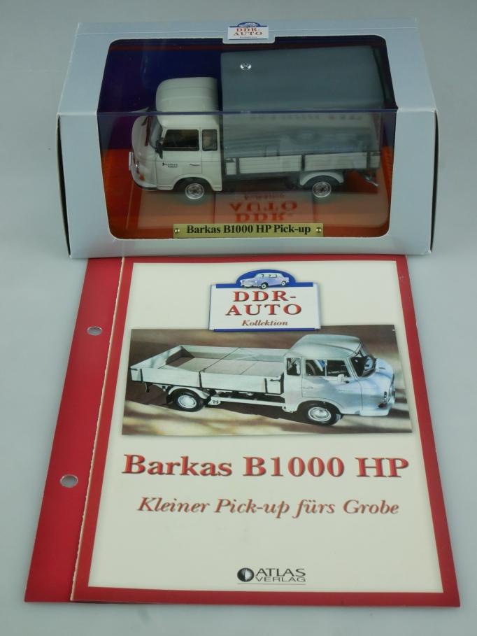 Atlas DDR-Auto 1/43 Barkas B1000 HP Pick-up + Datenblatt in Box - 113956