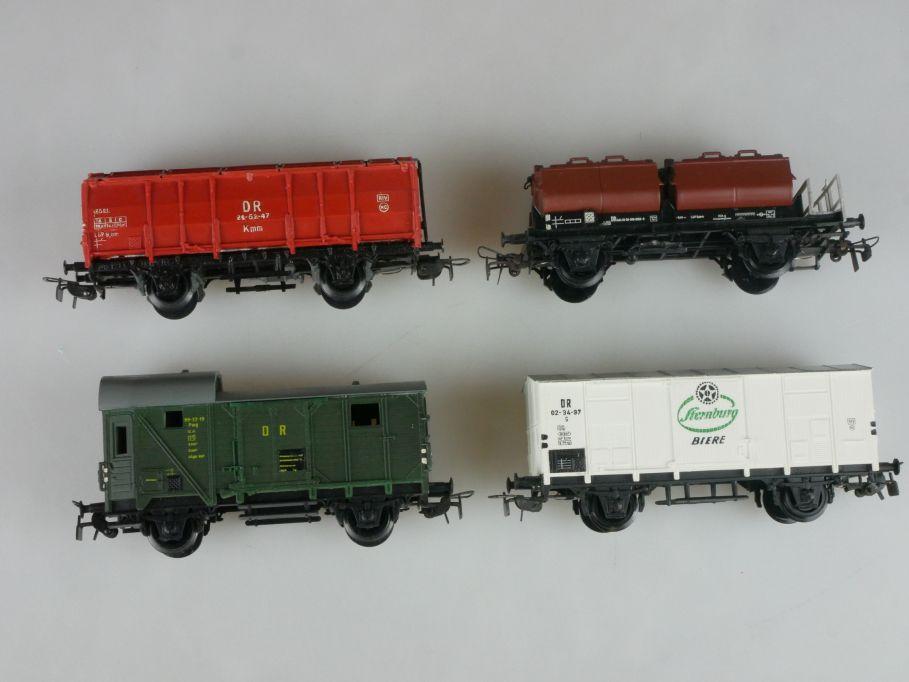 Piko Dietzel H0 DC 4x Güterwagen Klappdeckelwagen Kalkkübelwagen etc PFR 114075