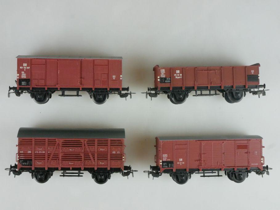 Piko H0 4x Güterwagen Güter Wagen Waggon der DR PFR 114089