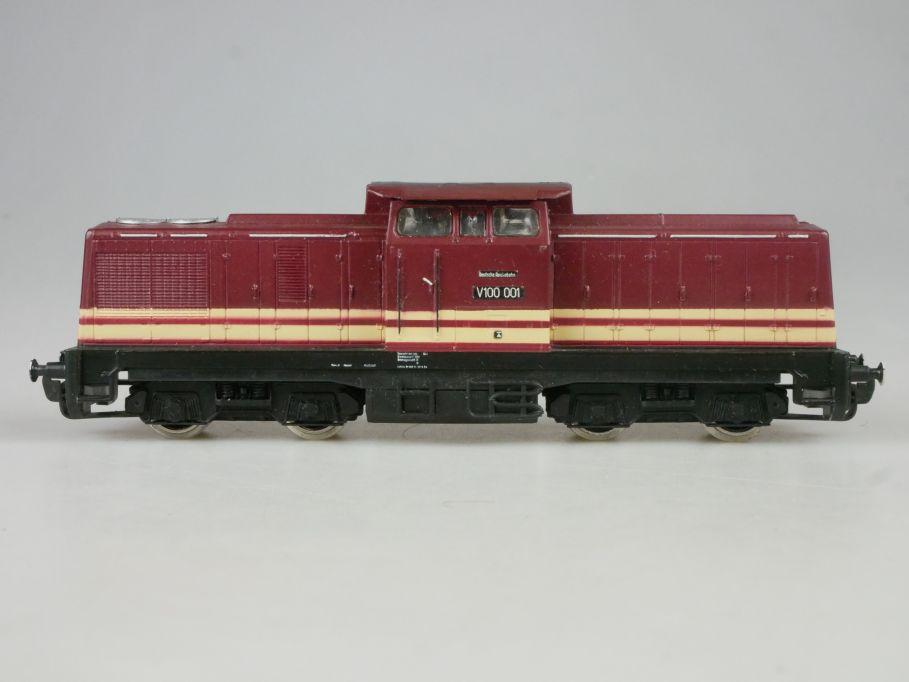 Gützold Piko H0 DC BR V 100 Diesellok Lok rot 2 Streifen PFR 114090