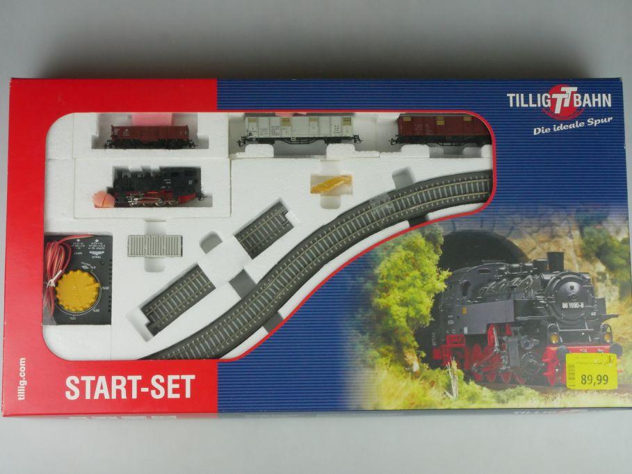 Tillig TT Bahn 500765 Start Set Güterzug Dampflok BR 92 3 Güterwagen OVP 114067