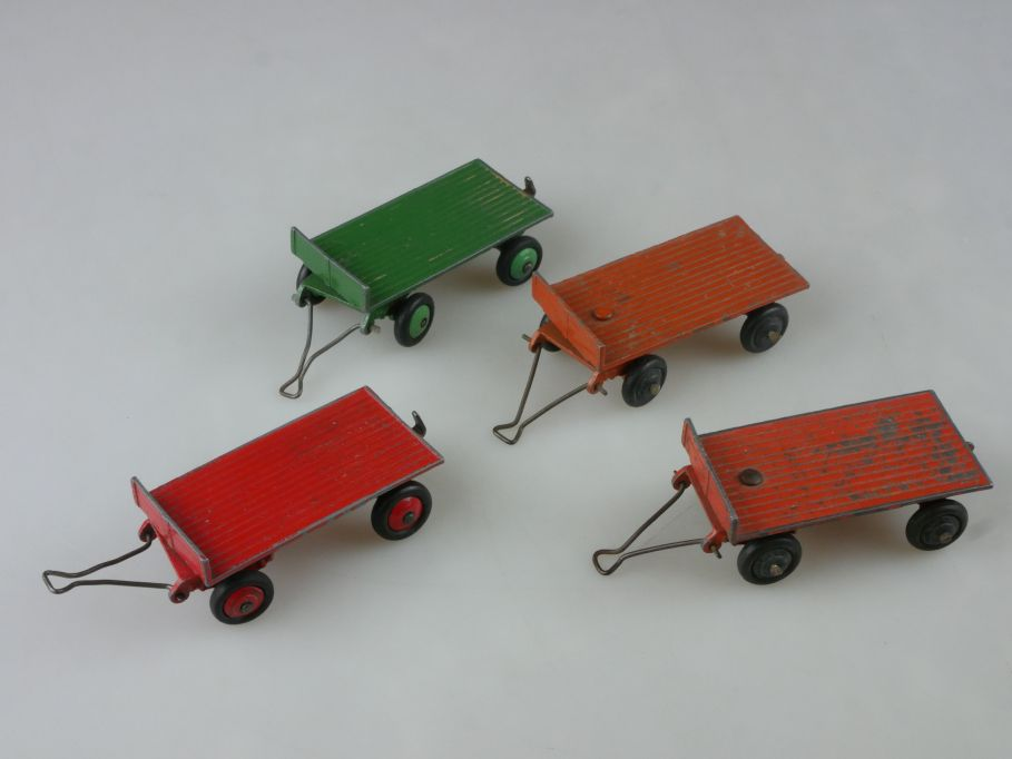 4x Dinky Toys England Flat Trailer Anhänger diecast Metall 25G vintage 114111