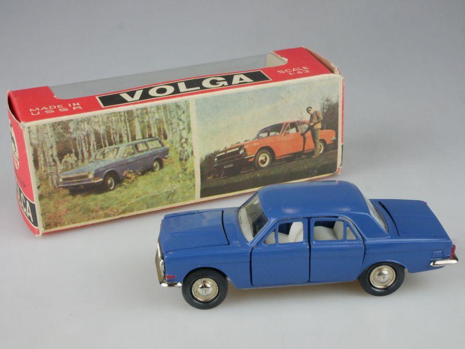 CCCP USSR 1/43 Gaz 24-02 Wolga Volga blue Yanka model Novoexport + Box 114113