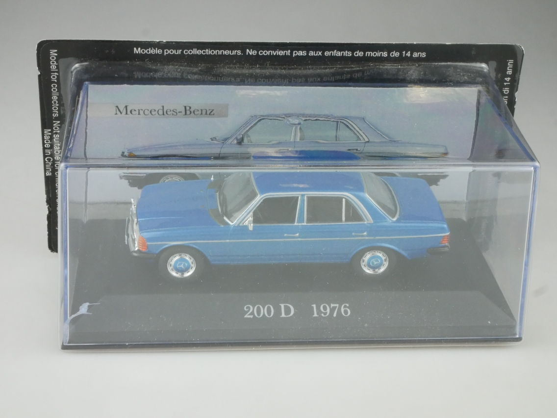 Mercedes Benz 200 D 1976 1/43 Collection Agostini in Box - 114129