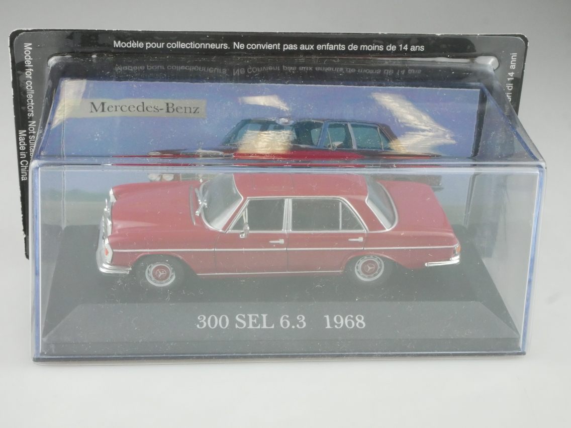 Mercedes Benz 300 SEL 6.3 1968 1/43 Collection Agostini in Box - 114130