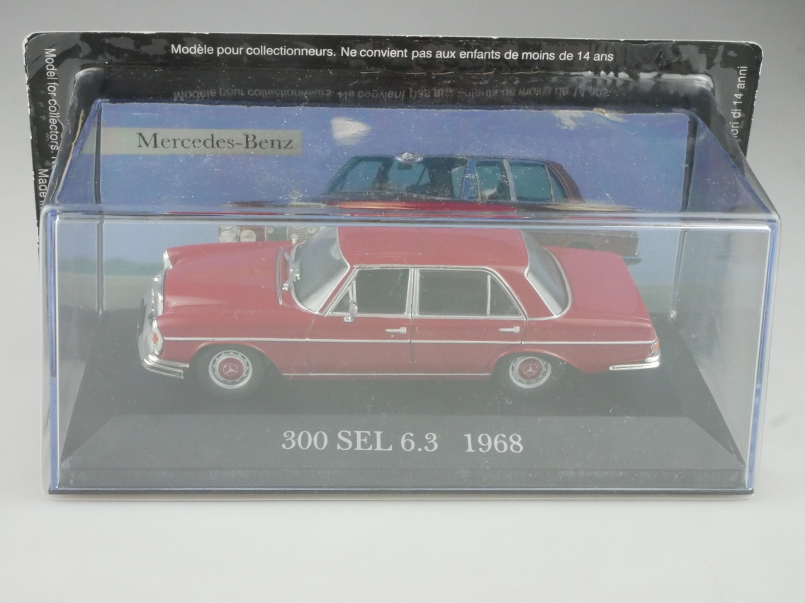 Mercedes Benz 300 SEL 6.3 1968 1/43 Collection Agostini in Box - 114131