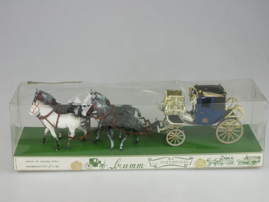 Brumm Historical 1/43 DRESS CHARIOT del Conte di Caledonia 1850 coach Box 114154