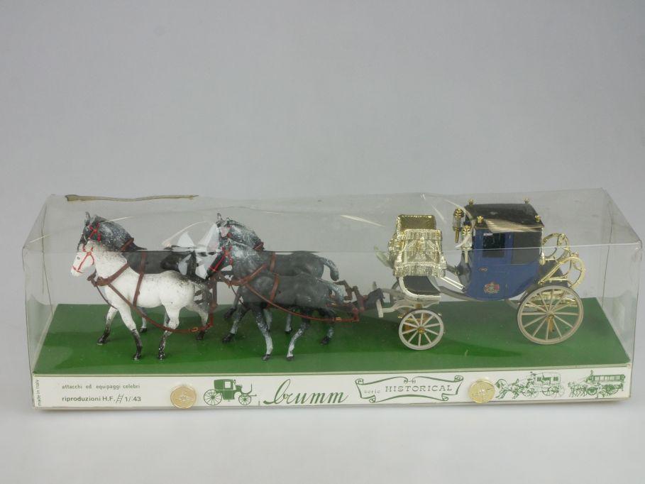 Brumm Historical 1/43 DRESS CHARIOT del Conte di Caledonia 1850 coach Box 114154