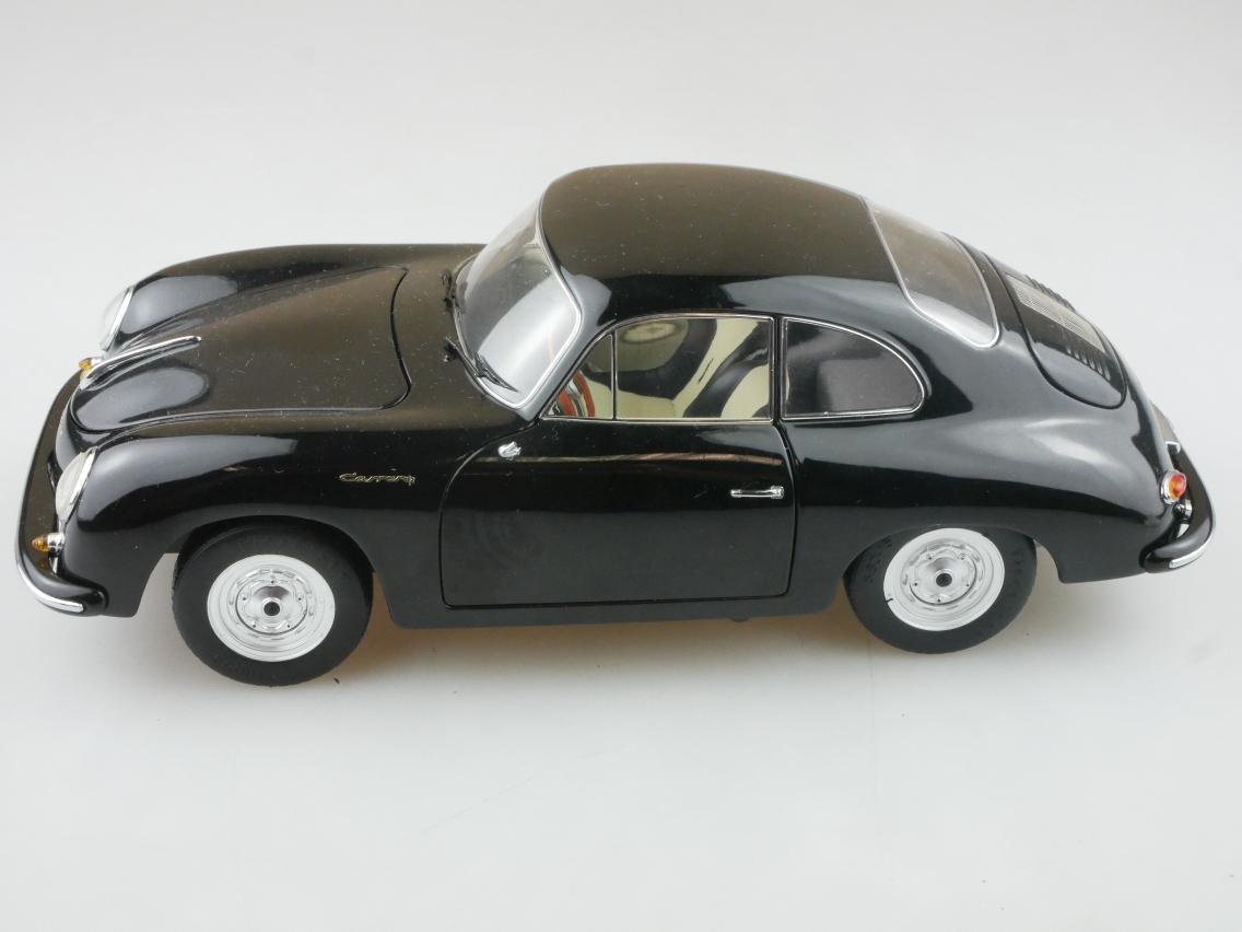 Schuco 1/18 Porsche 356 A Coupé schwarz Modellauto ohne Box - 114233