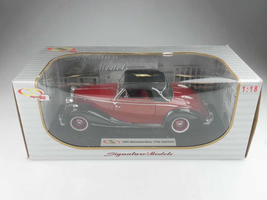 Signature 1/18 1950 Mercedes Benz 170S Cabriolet Modellauto + Box - 114178